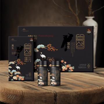 패키지 디자인 | 현대약품 흑삼 선물세트 디자인 | 라우드소싱 포트폴리오