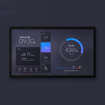 모바일 앱 | KOCOM 2020 신규 스마트홈 월패드 UI 디자인 | 라우드소싱 포트폴리오