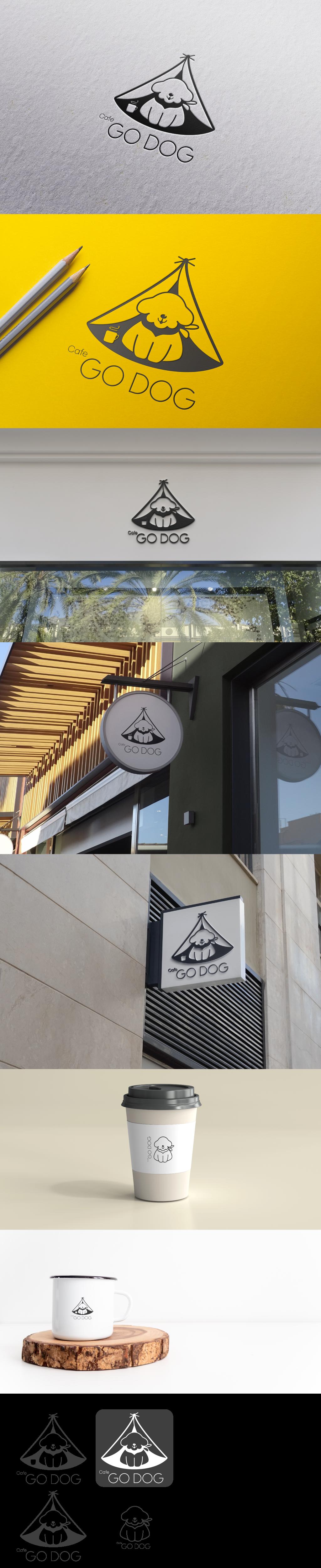 로고+간판 디자인 | 애견카페 로고 및 간판 디자인 의뢰 | 라우드소싱 포트폴리오