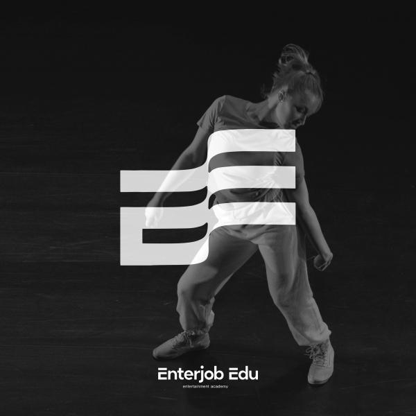 로고   엔터잡에듀(enterjob edu) 로고 디자인 의뢰   라우드소싱 포트폴리오