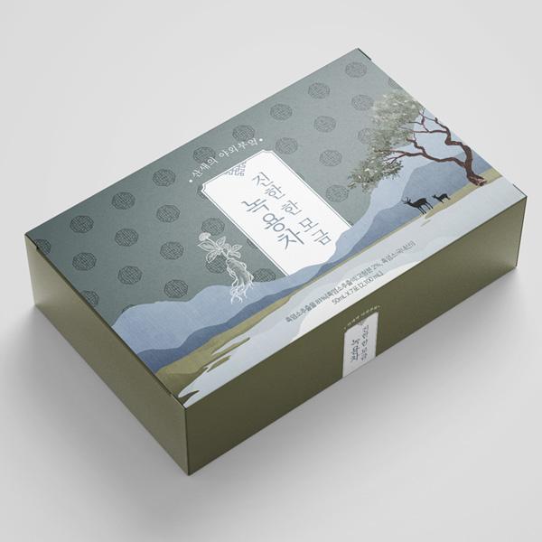 박스(상자) | *산새의 야외부엌 녹용차 박스 컨셉디자인* | 라우드소싱 포트폴리오