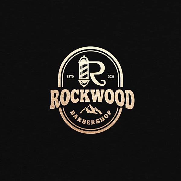 로고 | Rockwood(락우드) 바버샵 로고 디자인 의뢰 | 라우드소싱 포트폴리오