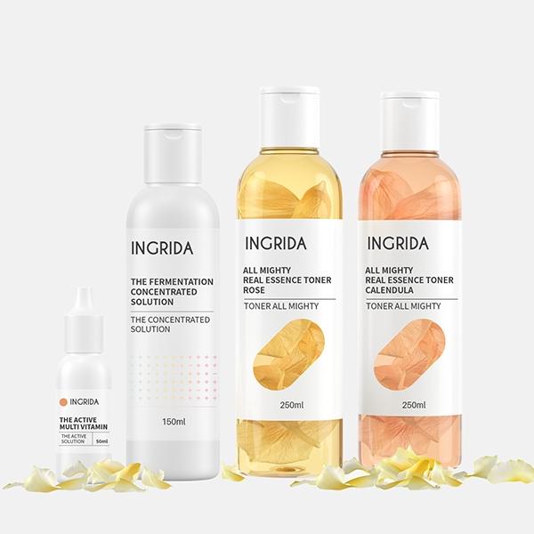 패키지 | Ingrida 화장품 패키지 디자인 의뢰 | 라우드소싱 포트폴리오