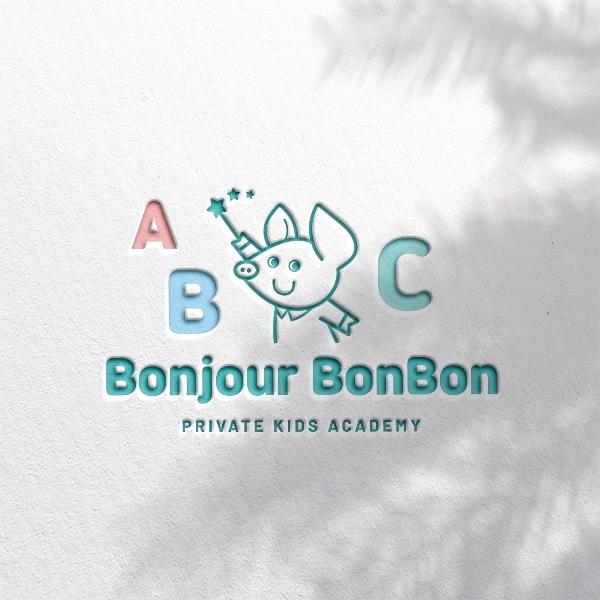 로고 | 유아 원어민 영어 놀이 학원 로고 의뢰 | 라우드소싱 포트폴리오