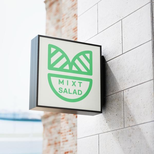 로고 + 명함 | 프랜차이즈를 꿈꾸는 salad업체 | 라우드소싱 포트폴리오