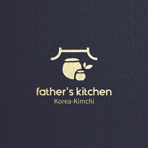 로고 | father's kitchen, korea-kimchi.eu 로고 디자인의뢰 | 라우드소싱 포트폴리오
