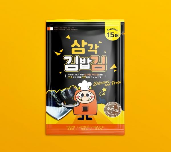 패키지 | 주식회사 코리아씨푸드 삼각김밥용 김 패키지 개발 | 라우드소싱 포트폴리오