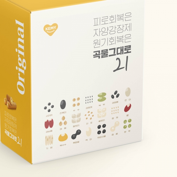 패키지 | 곡물 그대로 21 카카오톡 선물하기 전용 패키지 디자인 의뢰 | 라우드소싱 포트폴리오