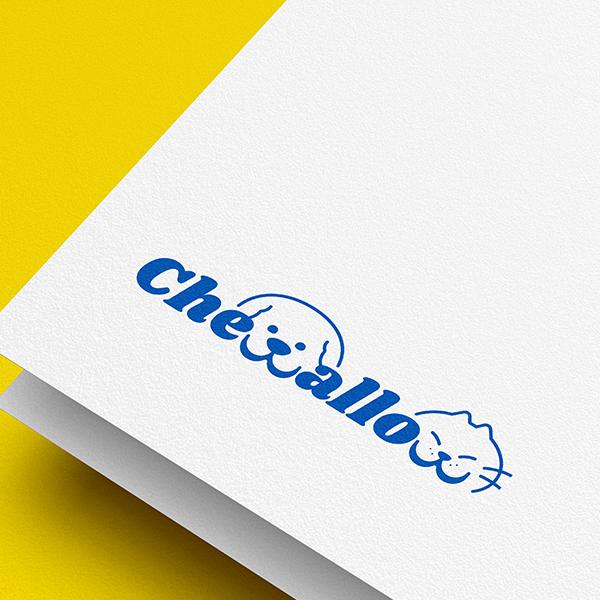 로고   애견간식 chewallow 그래픽로고 의뢰   라우드소싱 포트폴리오