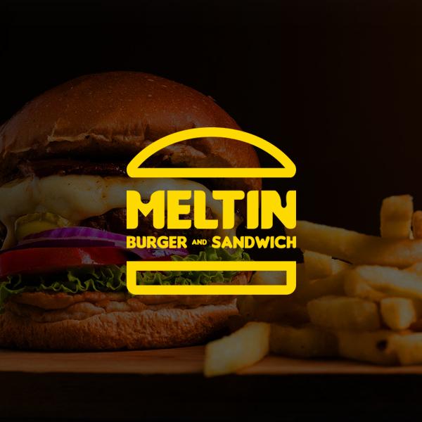 로고 | Meltin 버거 & 샌드위치 브랜드로고(심볼+워드마크) 의뢰 | 라우드소싱 포트폴리오