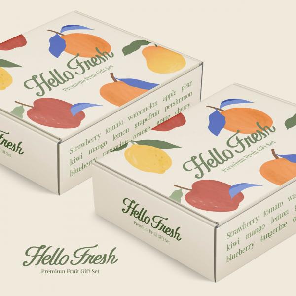 | 혼합 과일 선물세트 박스 컨셉디자인(과일 상자) | 라우드소싱 포트폴리오