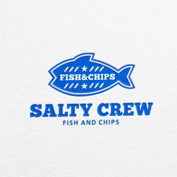 로고   피쉬앤칩스 전문점 솔티크루(SALTY CREW) 로고 디자인 의뢰   라우드소싱 포트폴리오