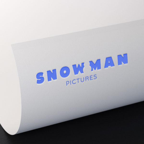 로고 | 스노우맨 픽처스 로고 & 명함 디자인 의뢰 | 라우드소싱 포트폴리오