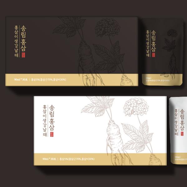 라벨 + 박스 | 홍삼액 패키지 디자인 의뢰합니다^^ | 라우드소싱 포트폴리오