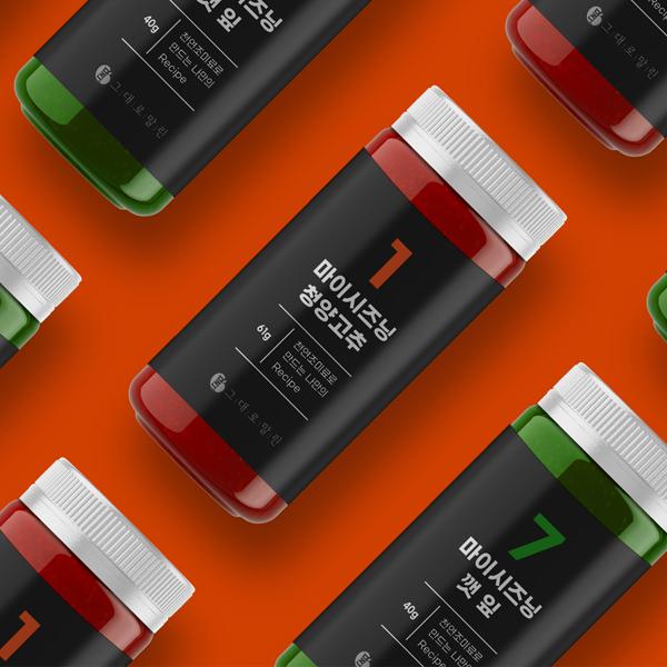 라벨(파우치) | 프리미엄 천연조미료 라벨 디자인 개발 | 라우드소싱 포트폴리오