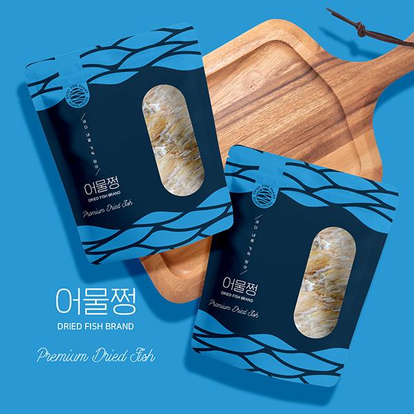 라벨 + 박스 | 건어물 브랜드 '어물쩡' 패키지 컨셉디자인 | 라우드소싱 포트폴리오