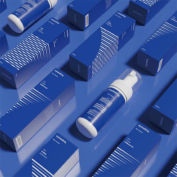 라벨 + 박스 | 사이쿨링 남성청결제 패키지 디자인 의뢰 | 라우드소싱 포트폴리오
