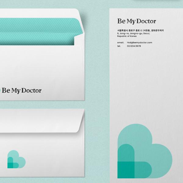 브랜딩 SET   자기 계발 교육 콘텐츠 서비스 'Be My Doctor' 로고 의뢰   라우드소싱 포트폴리오