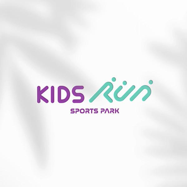 로고 + 간판   스포츠형 키즈카페 KIDS RUN SPORTS PARK 로고/간판 디자인 의뢰   라우드소싱 포트폴리오