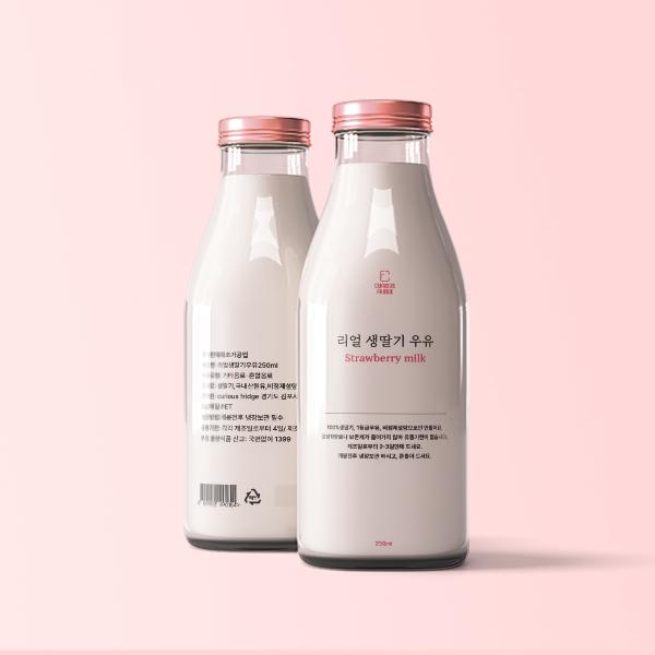 라벨(파우치) | 리얼우유 제품 라벨 | 라우드소싱 포트폴리오