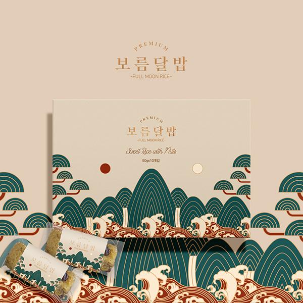 라벨 + 박스 | 남도달밥 약밥2종 패키지 컨셉디자인 | 라우드소싱 포트폴리오