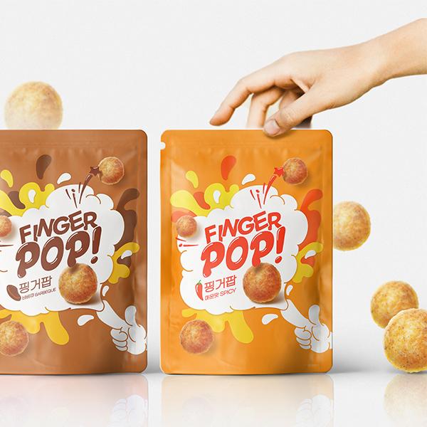 라벨 + 박스 | 핑거스낵 과자 패키지 디자인 | 라우드소싱 포트폴리오