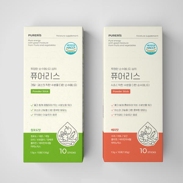 라벨 + 박스 | 퓨어리스 박스&스틱 2종 패키지 디자인 | 라우드소싱 포트폴리오
