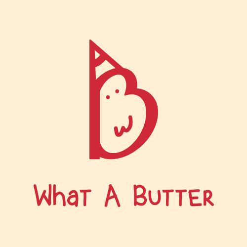   버터전문 업체 'What A Butter' 브랜드 로고 디자인 의뢰   라우드소싱 포트폴리오