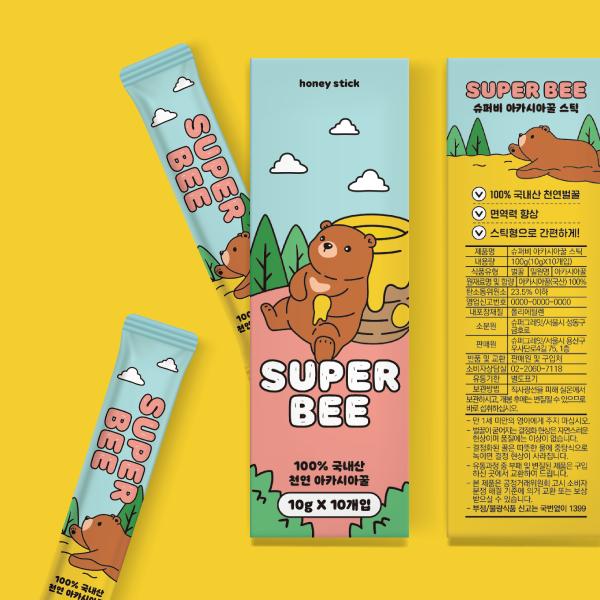 라벨 + 박스 | 천연 꿀 꿀스틱을 트렌디하고 재미있게! | 라우드소싱 포트폴리오