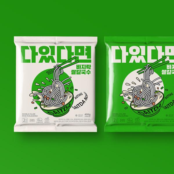 라벨(파우치) | 다있다면 쌀칼국수 패키지 디자인 의뢰 | 라우드소싱 포트폴리오