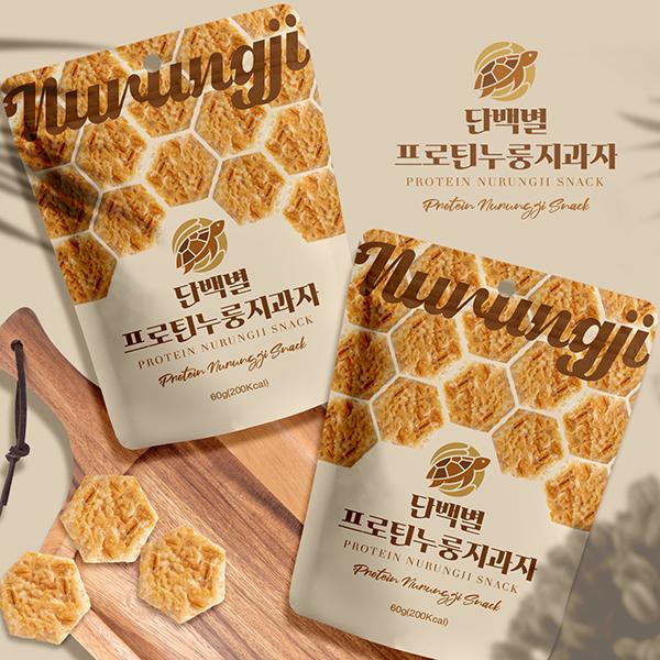 라벨(파우치) | '단백별 프로틴누룽지과자' 패키지 디자인 의뢰 | 라우드소싱 포트폴리오