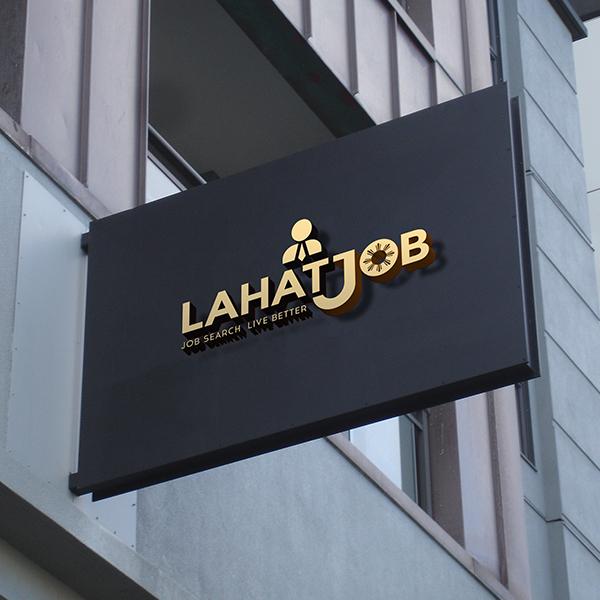 로고 | 'LAHAT JOB' 로고 디자인 의뢰 | 라우드소싱 포트폴리오