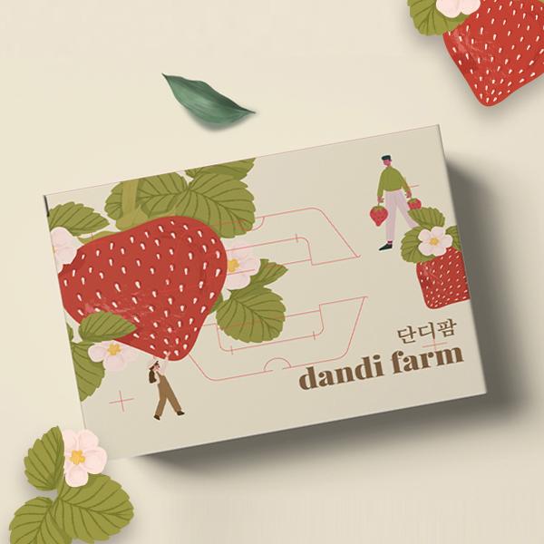 박스(상자) | 단디팜(딸기농장) 박스 2종 의뢰 | 라우드소싱 포트폴리오