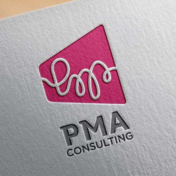 로고 + 명함   PMA컨설팅 로고 디자인 의뢰   라우드소싱 포트폴리오
