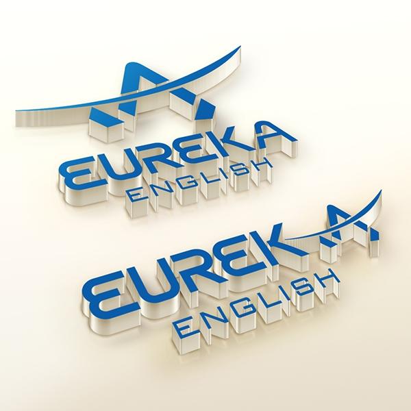 로고 + 명함 | 유레카 영어 학원 | 라우드소싱 포트폴리오