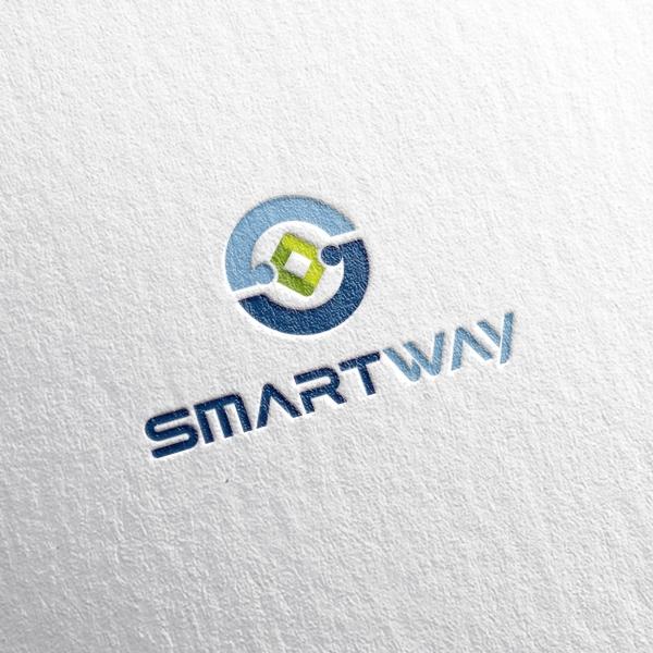 로고 + 명함 | (주)스마트웨이  로고디... | 라우드소싱 포트폴리오