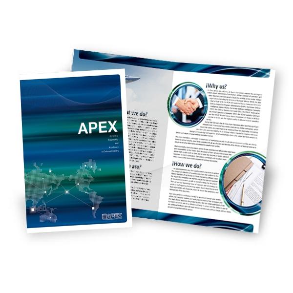 브로셔 / 리플렛 | APEX | 라우드소싱 포트폴리오