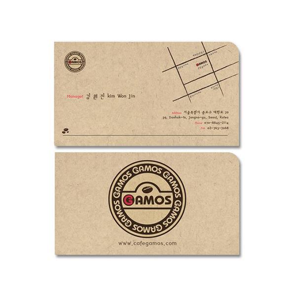 명함 / 봉투 | 커피전문점 로고 수정 및... | 라우드소싱 포트폴리오