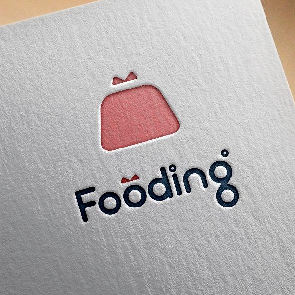 로고 디자인 | 푸딩(Fooding)서비... | 라우드소싱 포트폴리오