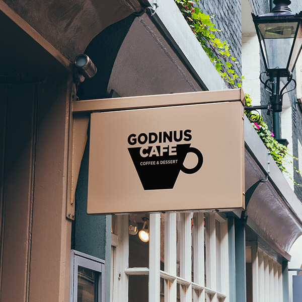 로고 + 간판 | 카페 가디너스 로고+간판... | 라우드소싱 포트폴리오