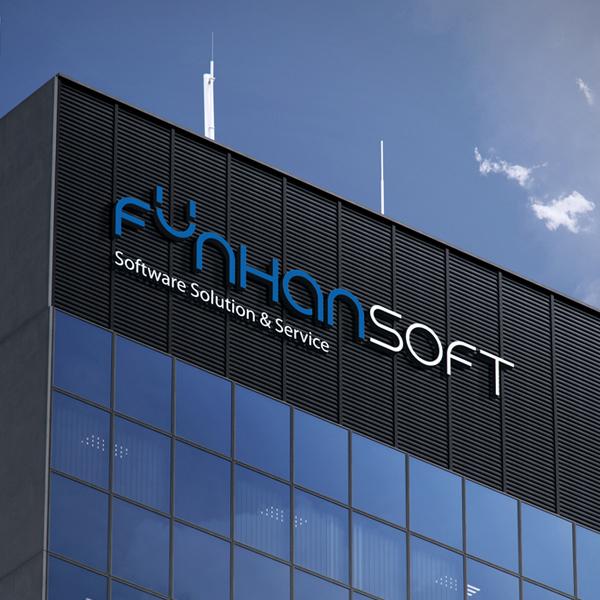 로고 + 명함 | funhansoft 로고... | 라우드소싱 포트폴리오