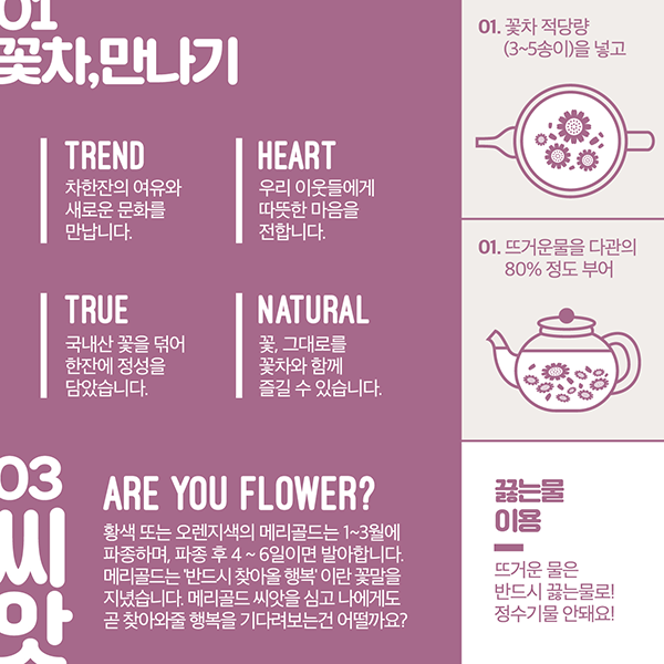 브로셔 / 리플렛 | 꽃이다 KIT 제품설명서 의뢰 | 라우드소싱 포트폴리오