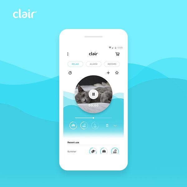 모바일 앱   myClair (수면유도...   라우드소싱 포트폴리오