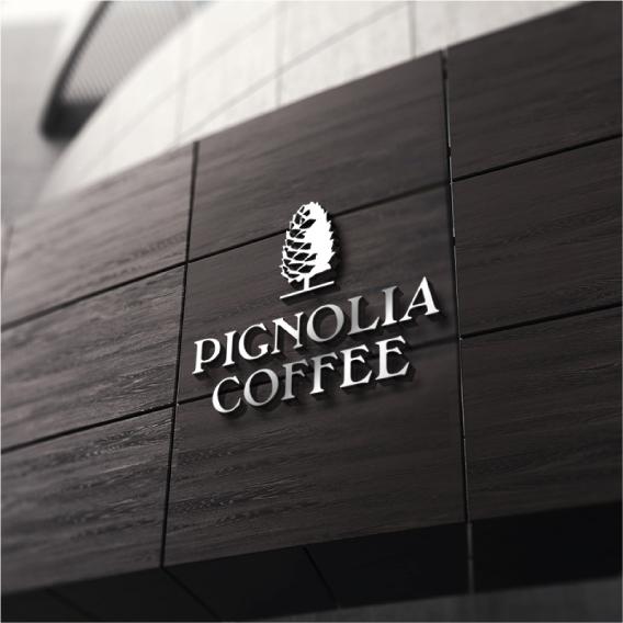 로고 디자인 | PIGNOLIA(COFF... | 라우드소싱 포트폴리오