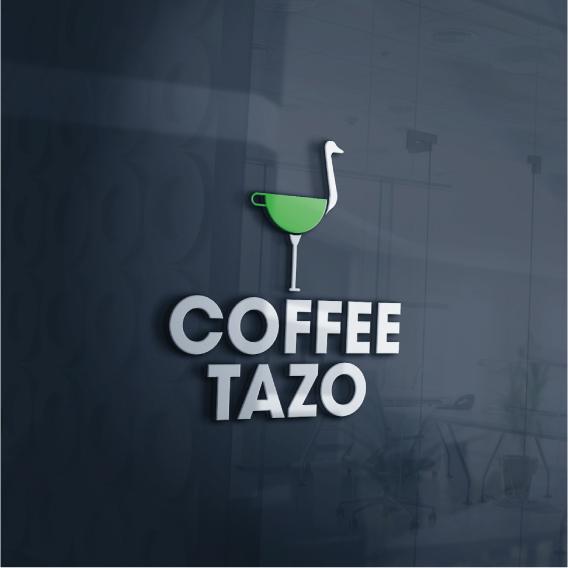 로고 + 간판   COFFEE TAZO   라우드소싱 포트폴리오