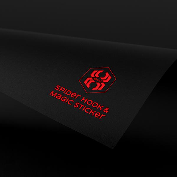 로고 디자인 | [스파이더후크 매직스티커... | 라우드소싱 포트폴리오
