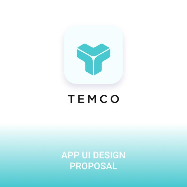 모바일 앱   TEMCO 앱 디자인 의뢰   라우드소싱 포트폴리오