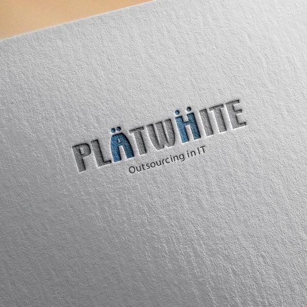 로고 + 명함   PLATWHITE(플랫화이트)   라우드소싱 포트폴리오