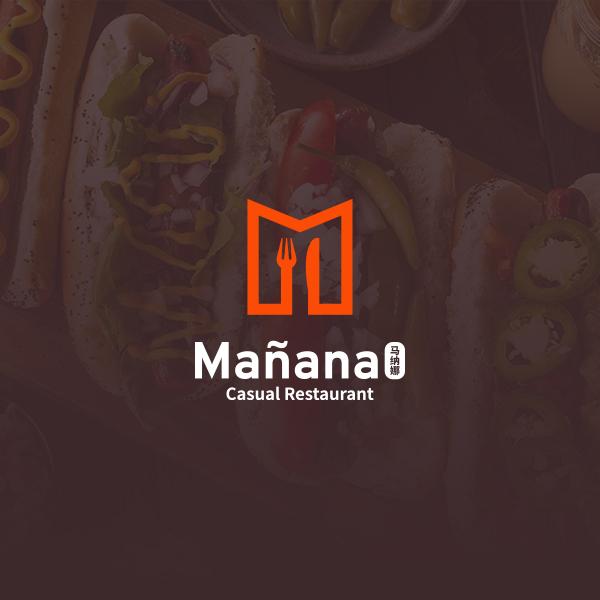 로고 + 간판   Mañana    라우드소싱 포트폴리오