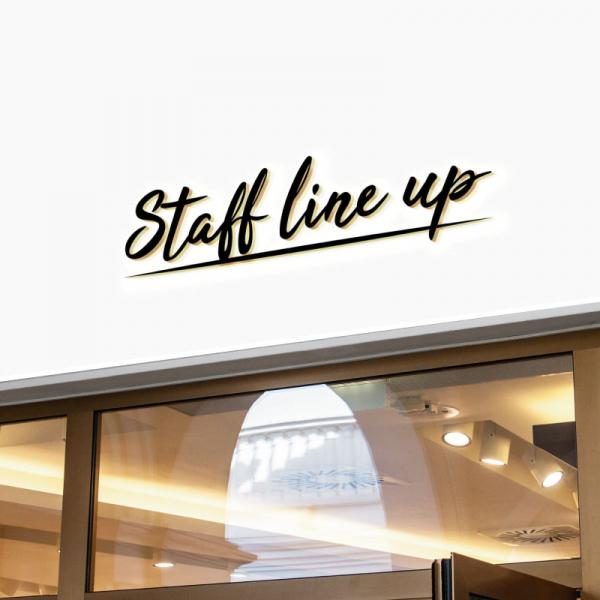 로고 디자인 | staff line up | 라우드소싱 포트폴리오